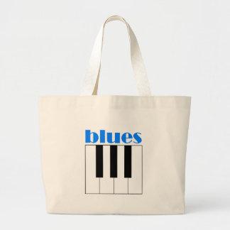 Piano fresco de los azules bolsas lienzo