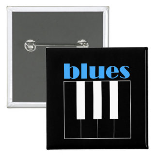 Piano fresco de los azules pin cuadrado