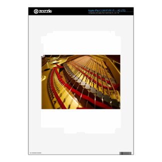 Piano from Bass Strings Skin For iPad 3