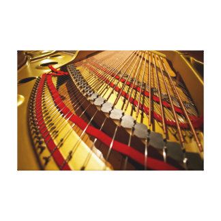 Piano from the Bass Strings - Canvas Photo Art