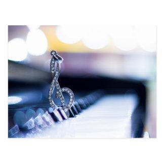 Piano Gclef Postales