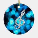Piano Gclef  symbol Christmas Ornament