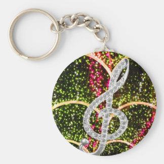 Piano Gclef Symbol Keychain