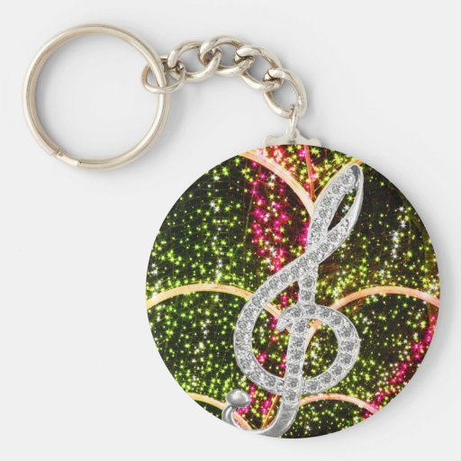Piano Gclef Symbol Key Chain