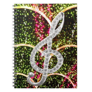 Piano Gclef Symbol Spiral Notebook