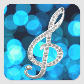 Piano Gclef  symbol Square Sticker