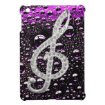 Piano Gclef Symbol with rain drop background iPad Mini Cases