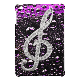 Piano Gclef Symbol with rain drop background iPad Mini Covers