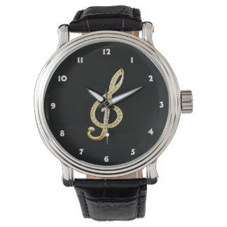 Piano Gclef symbol Wrist Watch