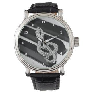 Piano Gclef symbol Wrist Watches