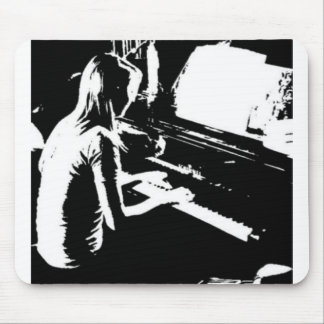 Piano Girl Mouse Pad