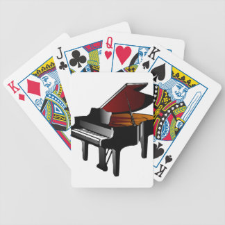 piano gloss black bicycle playing cards