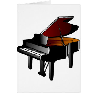 piano gloss black card