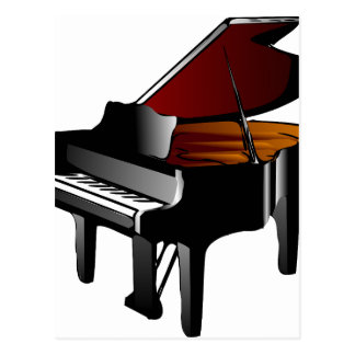 piano gloss black postcard