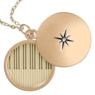 Piano Gold Plated Necklace