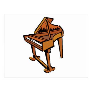 Piano Grand Piano brown graphic musician image Postcard