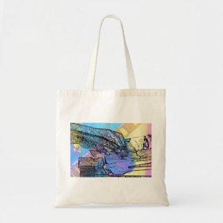 piano hands  guitar neck hands pastel version canvas bag