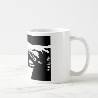 Piano Hands Basic White Mug
