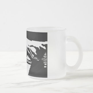 Piano Hands 10 Oz Frosted Glass Coffee Mug