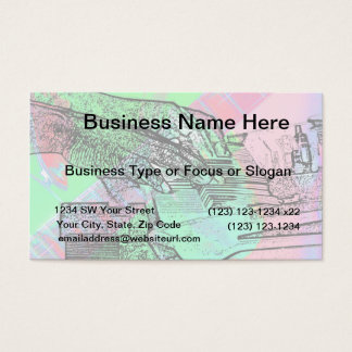 Piano hands over saturated guitar hand neck business card
