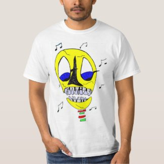 Piano Head Skull T-Shirt