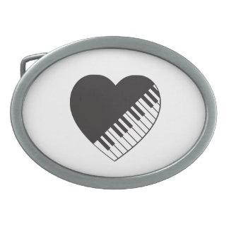 Piano Heart Belt Buckle
