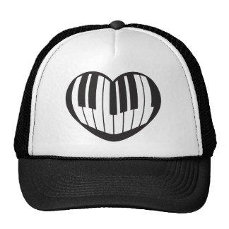 Piano_Heart Trucker Hat