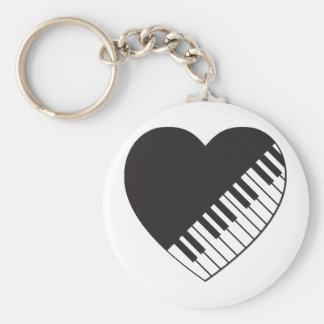 Piano Heart Keychain