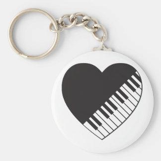 Piano Heart Keychain