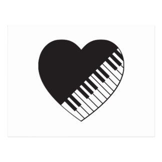 Piano Heart Postcard