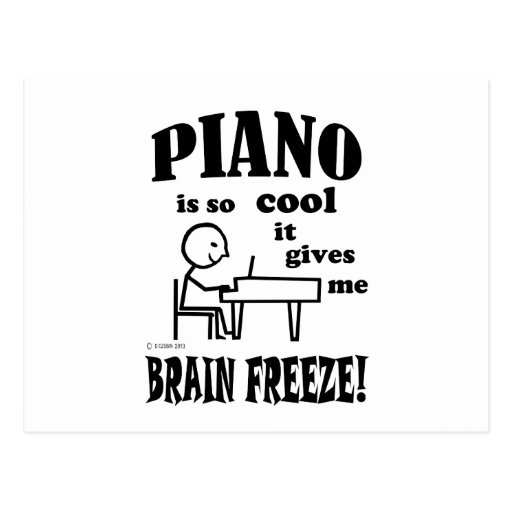 Piano, helada del cerebro postales