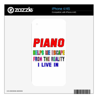 Piano Helps Me Decal For The iPhone 4