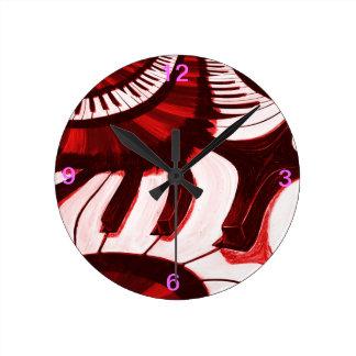 Piano Hwy Reloj De Pared