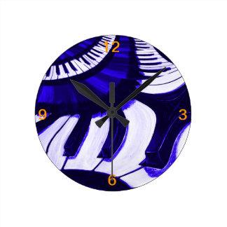 Piano Hwy Reloj Redondo Mediano