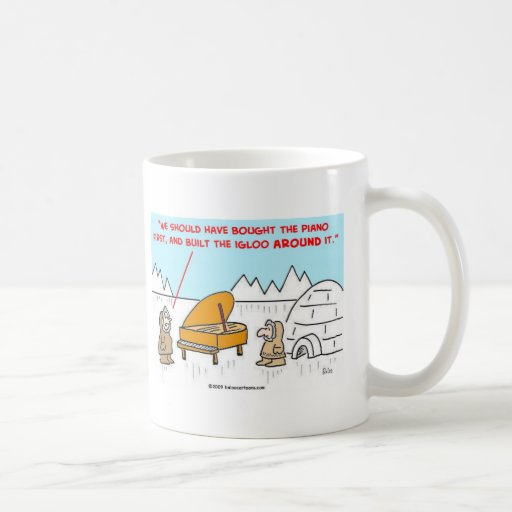 piano igloo Eskimoes Mug