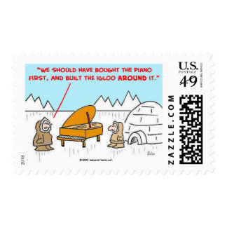 piano igloo Eskimoes Postage Stamp