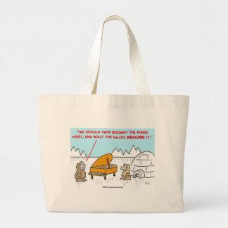 piano igloo Eskimoes Tote Bag