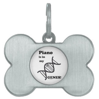 Piano in my Genes Pet Tags