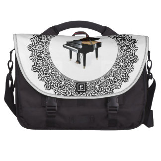 piano in round laptop commuter bag