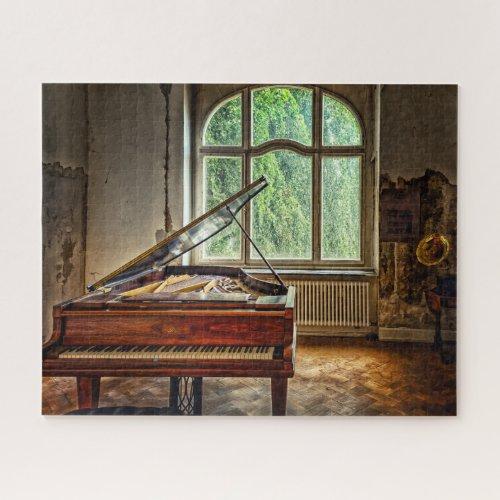 Piano in the Villa Jigsaw Puzzle