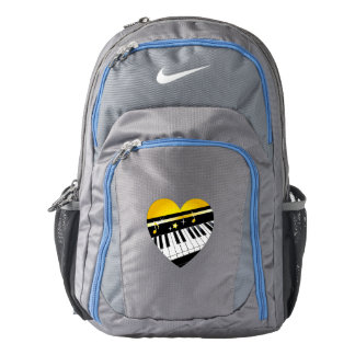 Piano Inside of a Heart with Stars Backpack