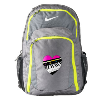 Piano Inside of a Heart with Stars Nike Backpack