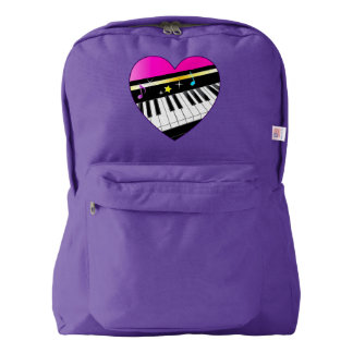Piano Inside of Heart with Stars American Apparel™ Backpack