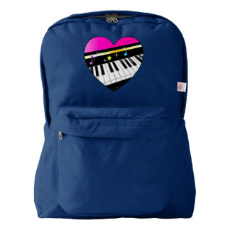 Piano Inside of Heart with Stars Backpack