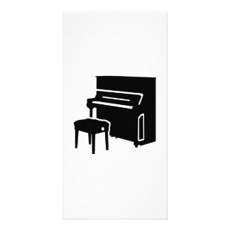Piano instrument photo card