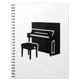 Piano instrument spiral notebook