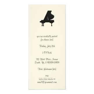 Piano 4x9.25 Paper Invitation Card