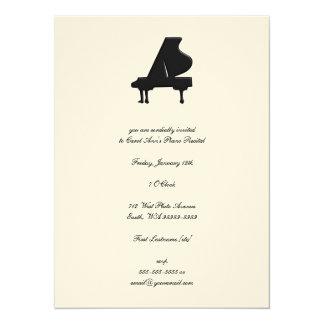 Piano 5.5x7.5 Paper Invitation Card