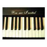 Piano Invitation_Postcard Postcards