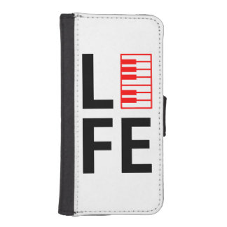 Piano is life. wallet phone case for iPhone SE/5/5s